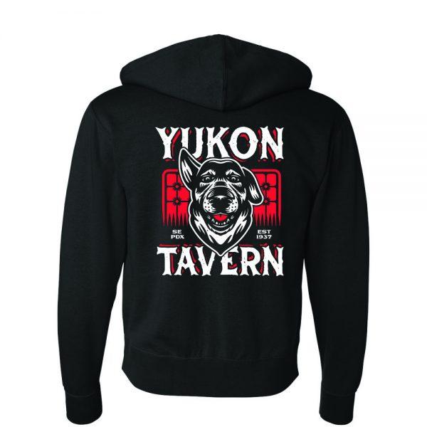 Yukon Tavern hoodie back
